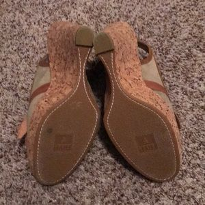 Frye Shoes - Frye Cork Wedges- GUC size 10. Fit more like a 9.5